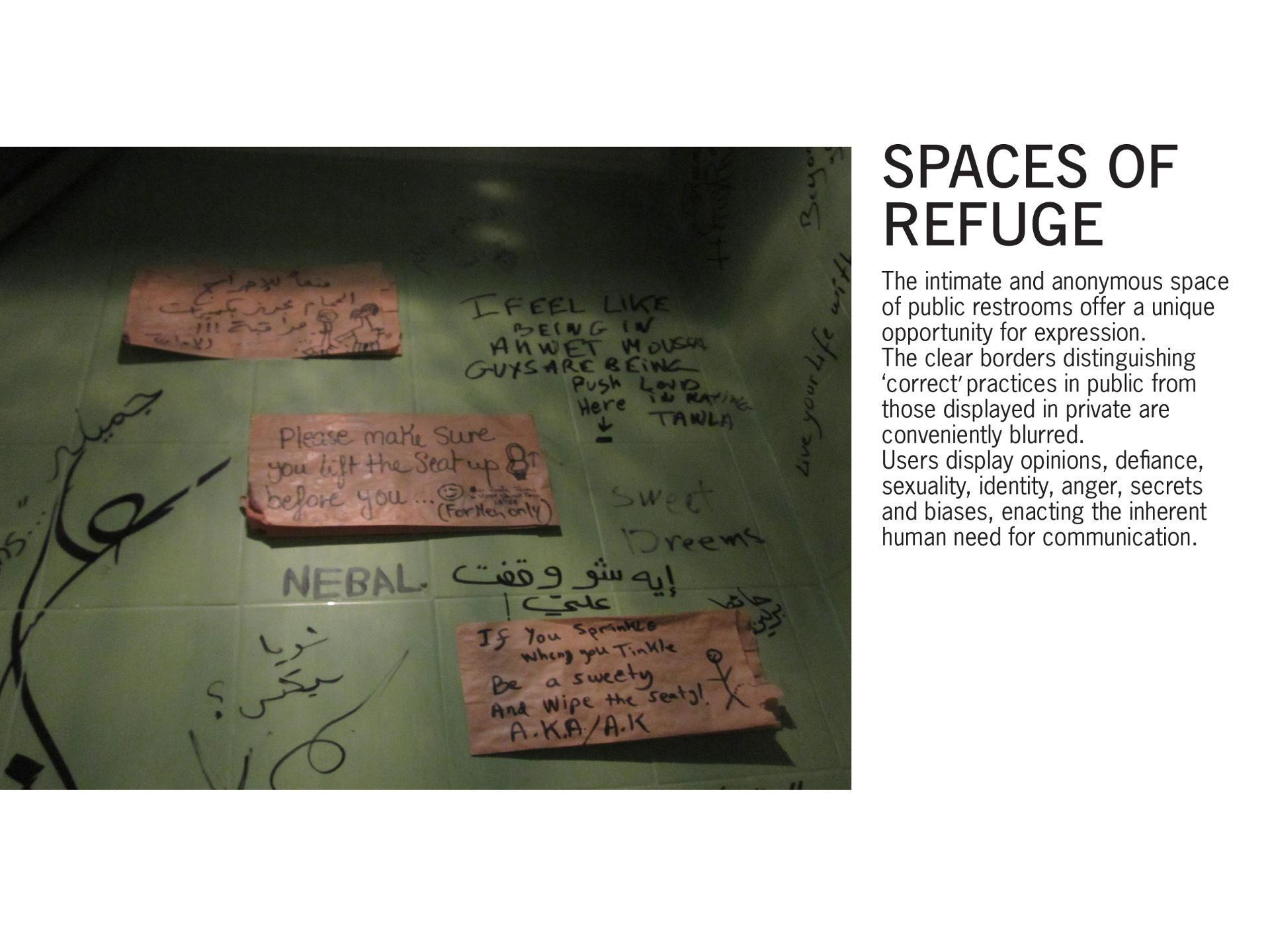 Spaces of Refuge - Visual design